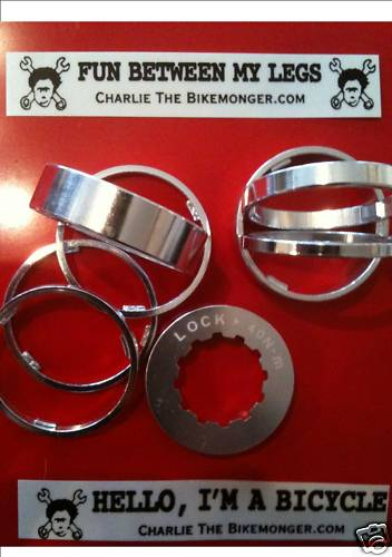 Bikemonger's Single Speed Cassette Spacers + Lockring